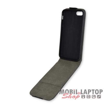 Flippes tok Apple iPhone 5 / 5S / SE fekete lefelé nyíló