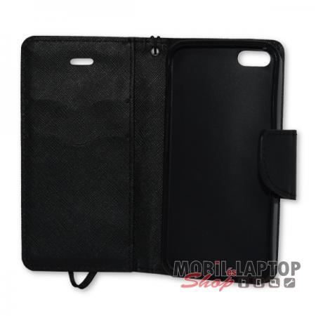 Flippes tok Apple iPhone 5 / 5S / SE fekete oldalra nyíló Fancy