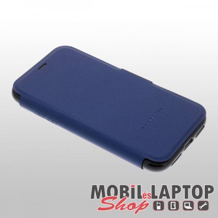 """Flippes tok Apple iPhone X. / XS. ( 5,8"""" ) ütésálló műanyag + gumi kék GEAR4 OXFORD"""