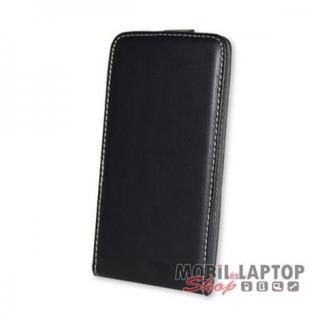 Flippes tok Huawei P Smart / Enjoy 7S fekete lefelé nyíló