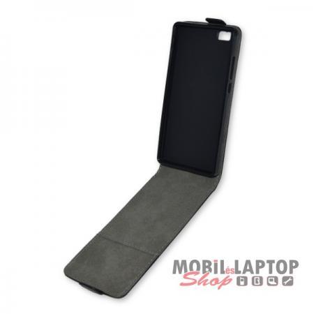 Flippes tok Huawei P8 Lite fekete lefelé nyíló