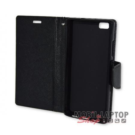 Flippes tok Huawei P8 Lite fekete oldalra nyíló Fancy