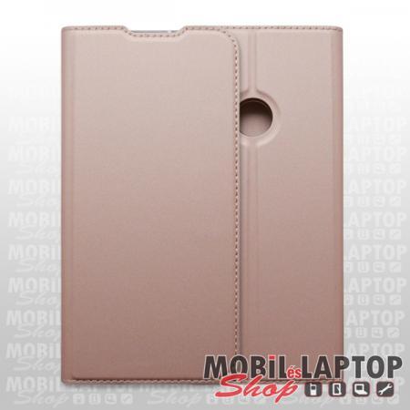 Flippes tok Samsung A217 Galaxy A21s rózsaarany oldalra nyíló