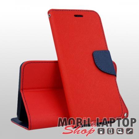 Flippes tok Samsung A405 Galaxy A40 piros-kék oldalra nyíló Fancy