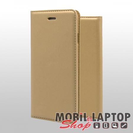 Flippes tok Samsung A705 Galaxy A70 arany oldalra nyíló