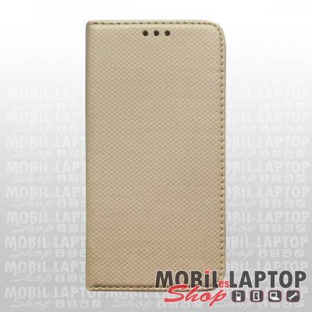 Flippes tok Samsung A715 Galaxy A71 arany oldalra nyíló
