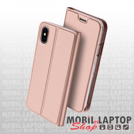 Flippes tok Samsung A715 Galaxy A71 rózsaarany oldalra nyíló