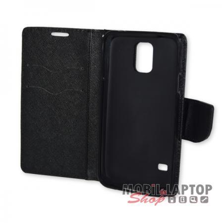 Flippes tok Samsung G900 / I9600 Galaxy S5 fekete oldalra nyíló Fancy