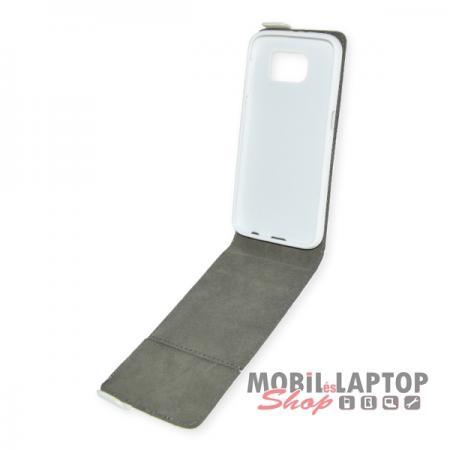 Flippes tok Samsung G920 Galaxy S6 fehér lefelé nyíló
