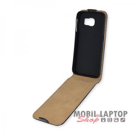 Flippes tok Samsung G920 Galaxy S6 fekete lefelé nyíló