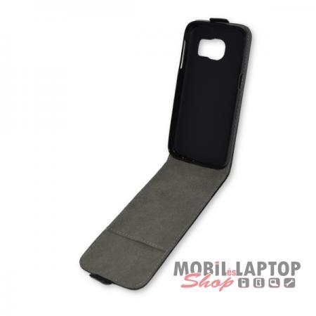 Flippes tok Samsung G930 Galaxy S7 fekete lefelé nyíló