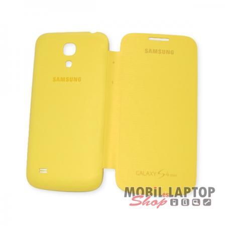 Flippes tok Samsung I9190 / I9192 / I9195 Galaxy S4 Mini Flip Cover sárga oldalra nyíló