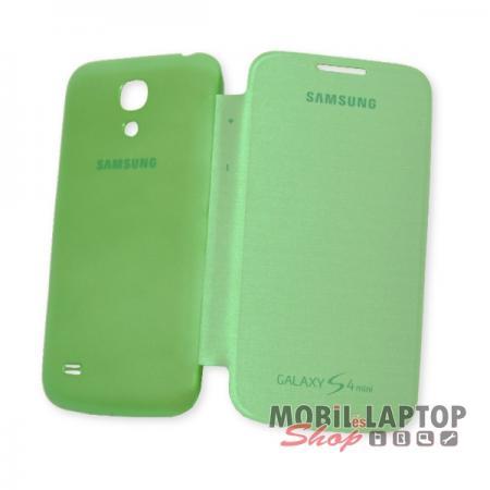 Flippes tok Samsung I9190 / I9192 / I9195 Galaxy S4 Mini Flip Cover zöld oldalra nyíló