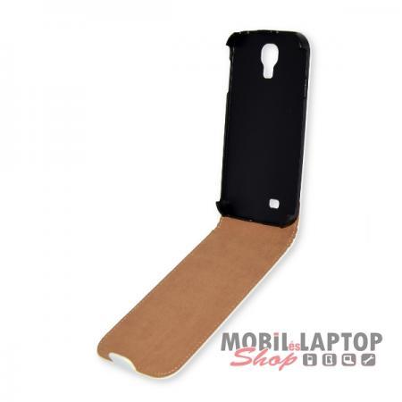 Flippes tok Samsung I9500 / I9505 / I9515 Galaxy S4 fehér lefelé nyíló