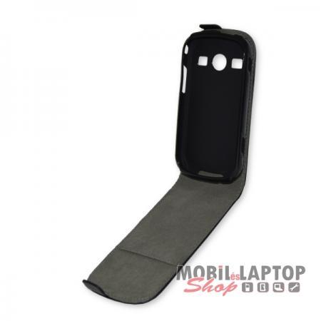 Flippes tok Samsung S7710 Galaxy Xcover 2 fekete lefelé nyíló