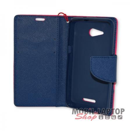 Flippes tok Sony E2003 / E2006 / E2053 Xperia E4G rózsaszín-kék oldalra nyíló Fancy