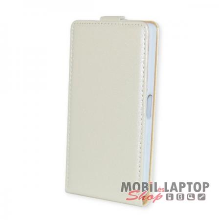 Flippes tok Sony E5803 Xperia Z5 Compact fehér lefelé nyíló