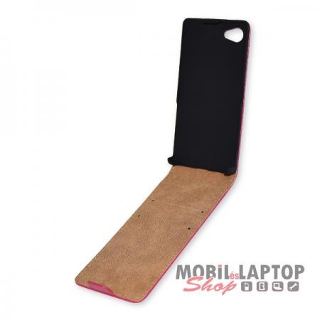 Flippes tok Sony E5803 Xperia Z5 Compact rózsaszín lefelé nyíló