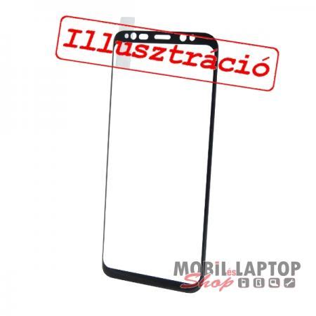 Fólia Huawei P Smart / Enjoy 7S fekete kerettel teljes kijelzős ÜVEG