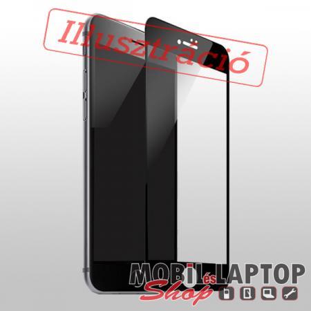Fólia Huawei Y6 (2019) / Y6 Pro (2019) / Y6s fekete kerettel teljes kijelzős ÜVEG