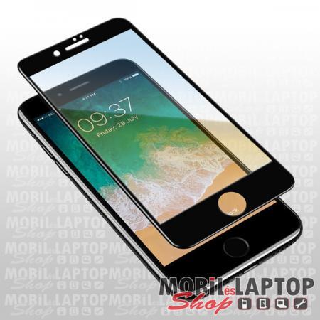 Fólia Huawei Y6p fekete kerettel teljes kijelzős ÜVEG