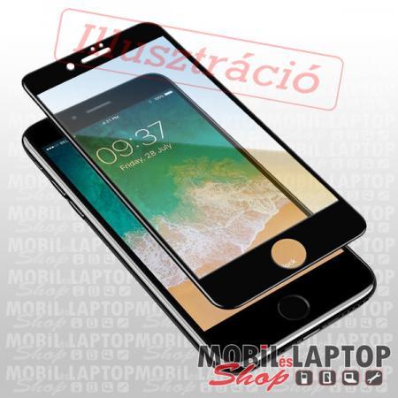 Fólia LG K510 K51S fekete kerettel teljes kijelzős ÜVEG