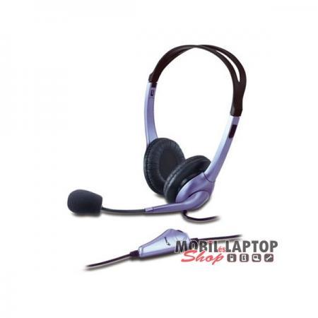 Genius HS-04SU jack ezüst mikrofonos PC fejhallgató headset