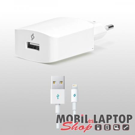 Hálózati töltő Apple iPhone 5 / 6 / 7 / 8 / X / XS 8pin lightning 2,1A TTEC