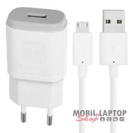 Hálózati töltő LG Micro USB 1800mAh fehér ( MCS-04ES + EAD62588801 )