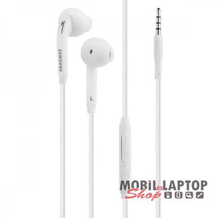 Headset sztereo Samsung Galaxy S6 fehér 3,5mm EO-EG920BW