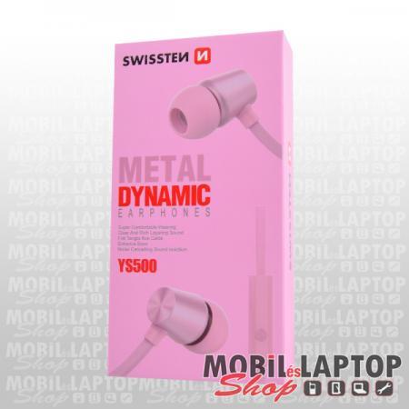 Headset sztereo univerzális 3,5mm rózsaarany SWISSTEN DYNAMIC YS500