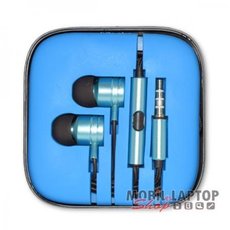 Headset sztereo univerzális Samsung / Apple / HTC 3,5mm jack dugós kék