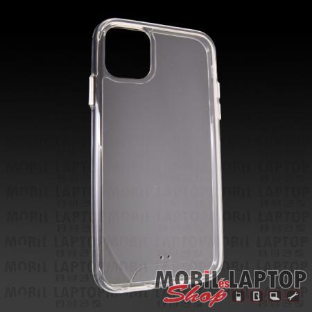 """Kemény hátlap Apple iPhone 11 ( 6,1"""" ) ütésálló műanyag + gumi átlátszó"""