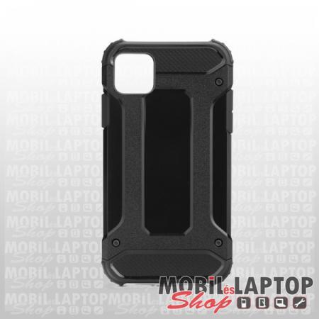 """Kemény hátlap Apple iPhone 11 ( 6,1"""" ) ütésálló műanyag + gumi fekete"""