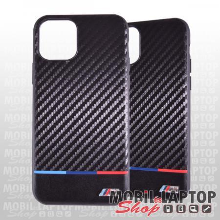 """Kemény hátlap Apple iPhone 11 Pro ( 5,8"""" ) kék-piros csík karbon fekete BMW M (BMHCN58PUCART)"""