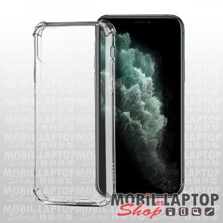 """Kemény hátlap Apple iPhone 12 / 12 Pro ( 6,1"""" ) ütésálló műanyag + gumi átlátszó"""
