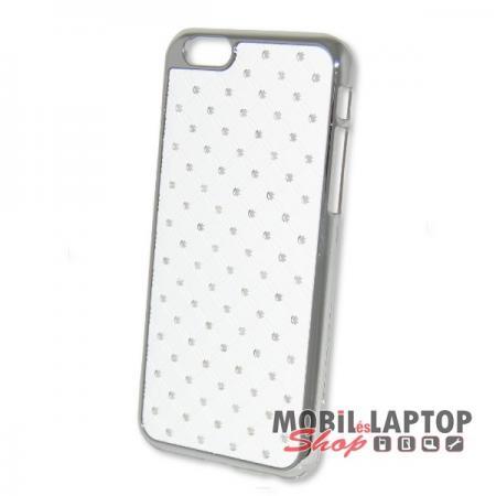 Kemény hátlap Apple iPhone 6 / 6S fehér strasszköves