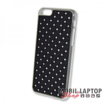 Kemény hátlap Apple iPhone 6 / 6S fekete strasszköves