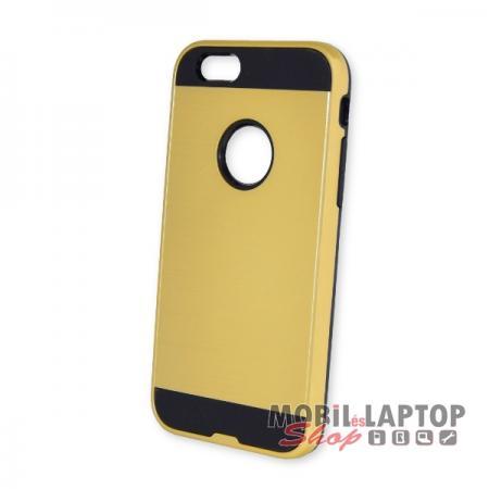 Kemény hátlap Apple iPhone 6 / 6S ütésálló műanyag + gumi arany