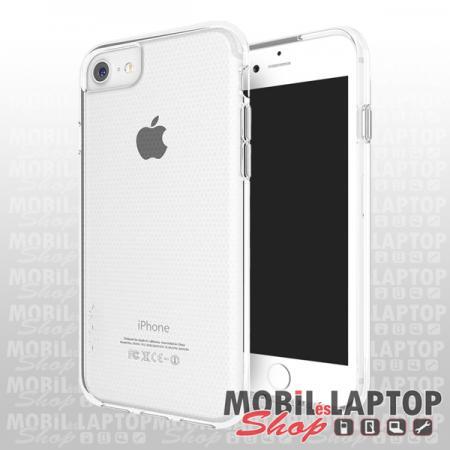 """Kemény hátlap Apple iPhone 7 / 8 / SE 2020 ( 4,7"""" ) ütésálló műanyag + gumi átlátszó SKECH"""