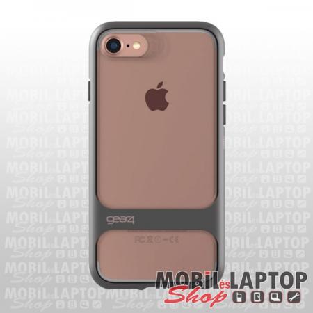 """Kemény hátlap Apple iPhone 7 / 8 / SE 2020 ( 4,7"""" ) ütésálló szürke-rózsaszín-átlátszó GEAR4 Soho"""