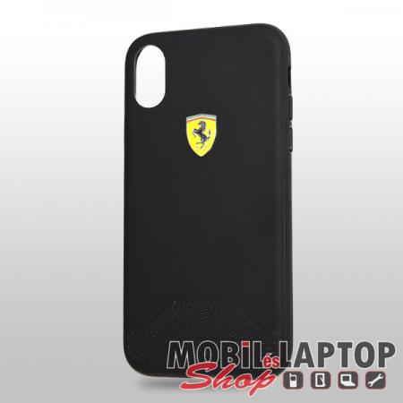 "Kemény hátlap Apple iPhone X. / XS. ( 5,8"" ) Soft touch fekete Ferrari (FESGRHCPXBK)"