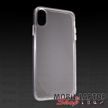 """Kemény hátlap Apple iPhone X. / XS. ( 5,8"""" ) ütésálló műanyag + gumi átlátszó"""