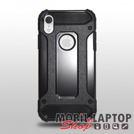 """Kemény hátlap Apple iPhone XR ( 6,1"""" ) ütésálló műanyag + gumi fekete"""