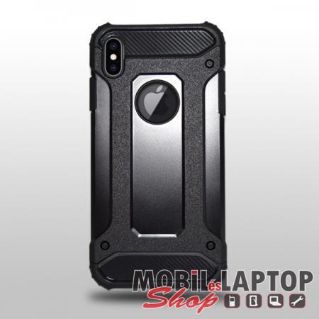 """Kemény hátlap Apple iPhone XS Max ( 6,5"""" ) ütésálló műanyag + gumi fekete"""