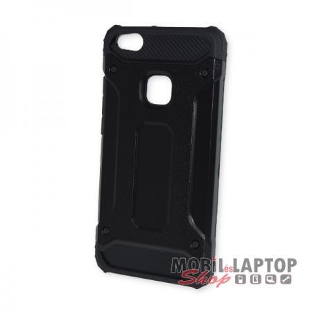 Kemény hátlap Huawei P10 Lite ütésálló műanyag + gumi fekete