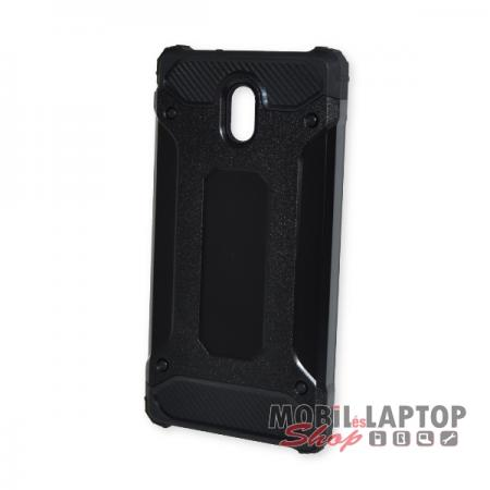 Kemény hátlap Nokia 3 (2017) ütésálló műanyag + gumi fekete