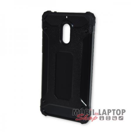 Kemény hátlap Nokia 6 (2017) ütésálló műanyag + gumi fekete