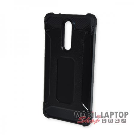 Kemény hátlap Nokia 8 (2017) ütésálló műanyag + gumi fekete