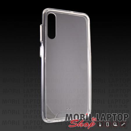 Kemény hátlap Samsung A307/A505/A507 Galaxy A30s/A50/A50s ütésálló műanyag + gumi átlátszó